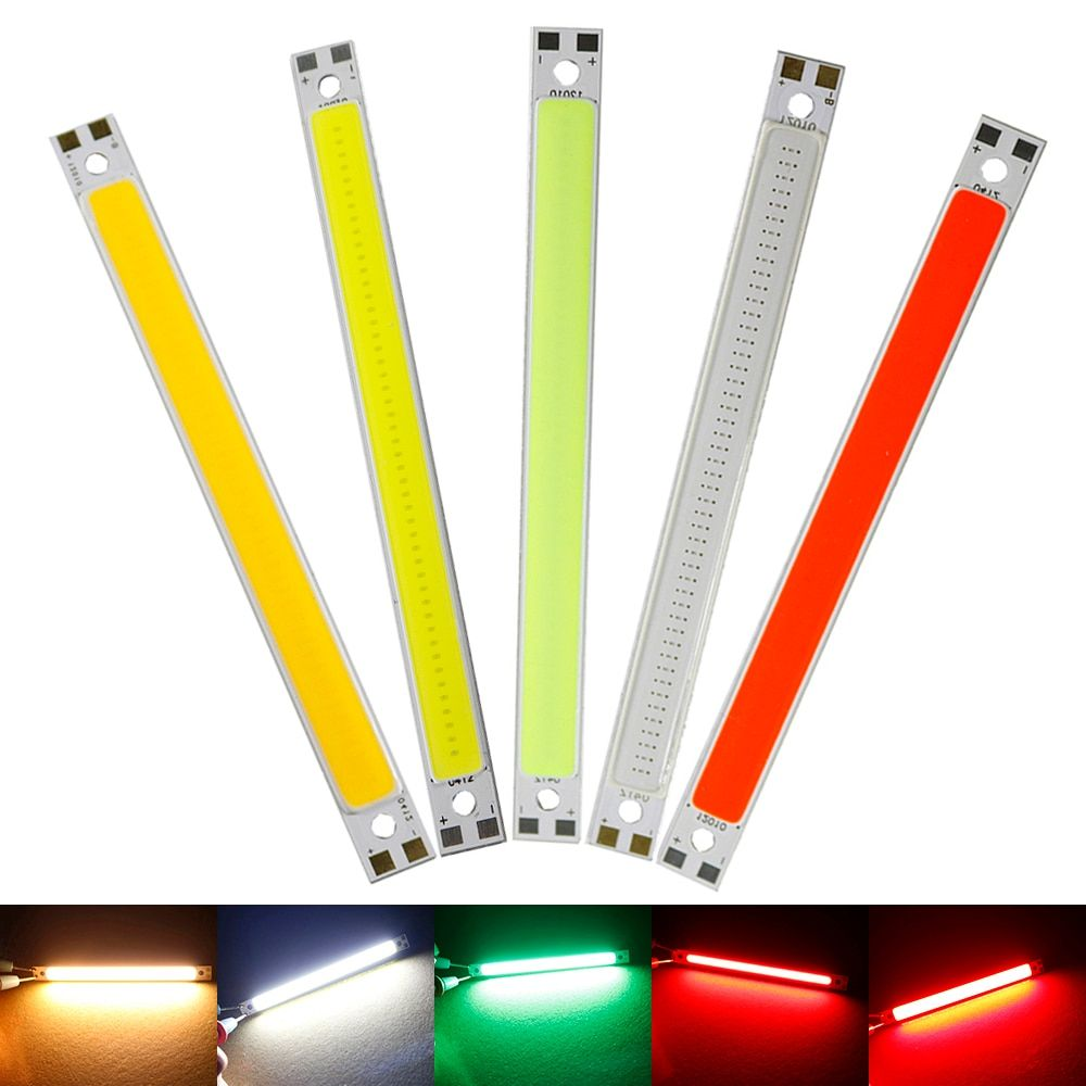 120mm 10mm Led Light Strip Surper Highlight 10w Cob Led Strips Lamps Diy Car Work 12v Bar Light Warm White White Green Red Hq Www Qualityonlinestores Com Led Light Strips Strip Lighting Diy Lamp