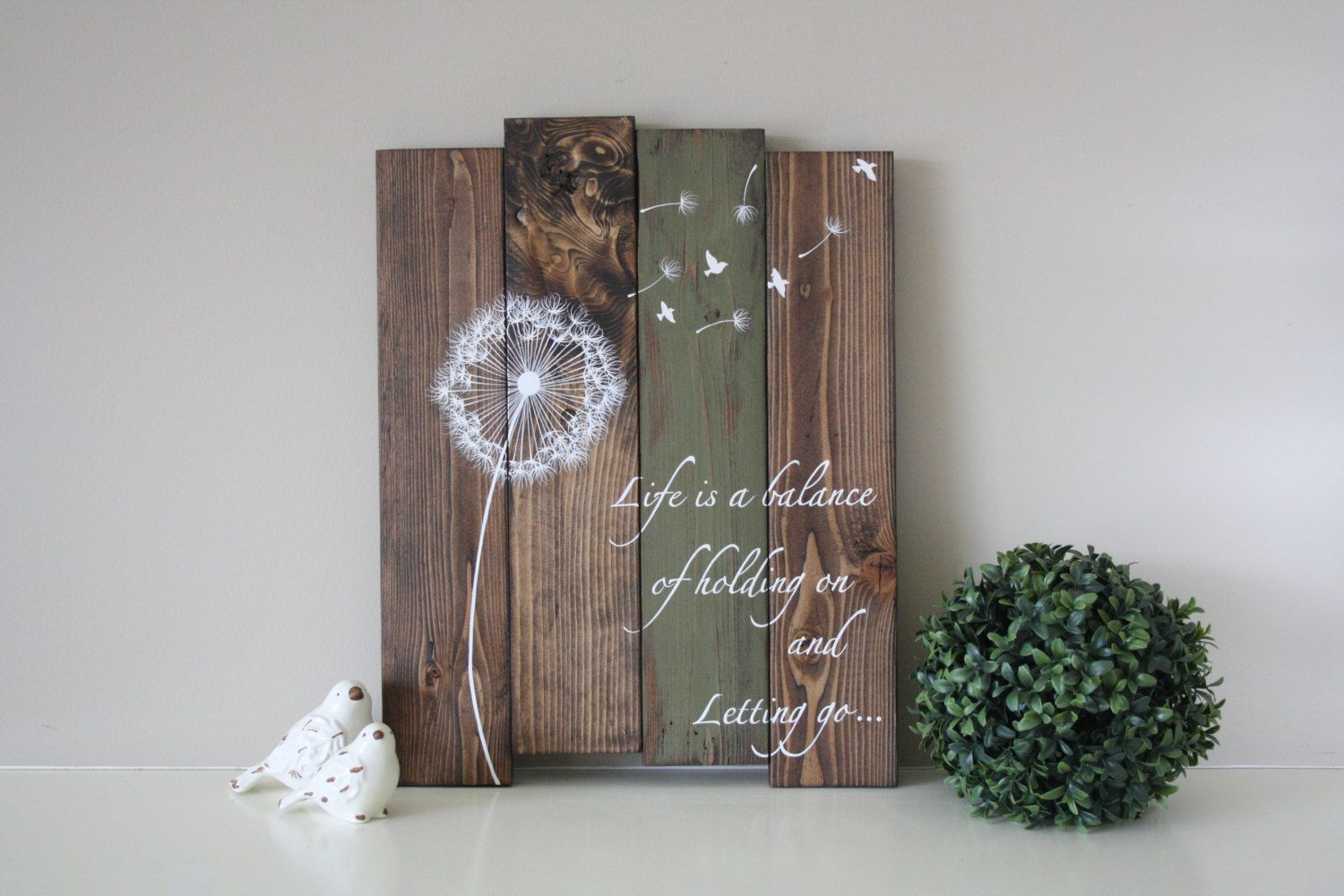 Reclaimed wood wall art life is a balance of holding on and