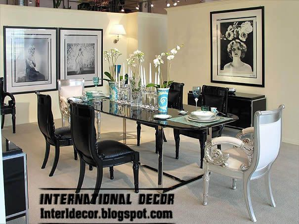 Contemporary Italian Dining Room Furniture Custom Luxury Italian Dining Room Furniture Ideas Black And White Dining Design Inspiration