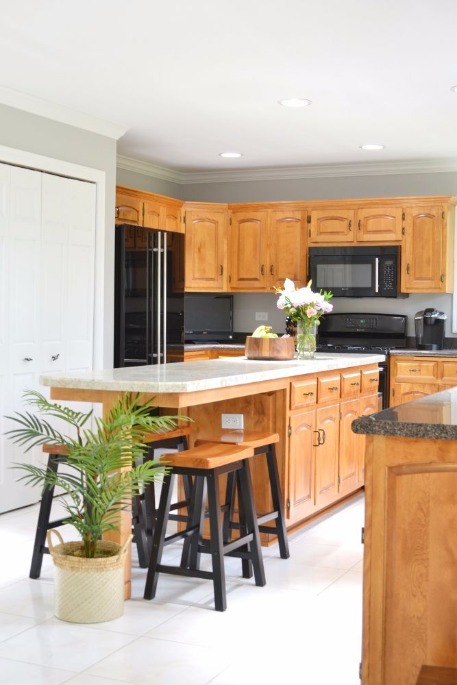 extending our island to add counter seating diy kitchen island extension kitchen island on kitchen island ideas organization id=98692