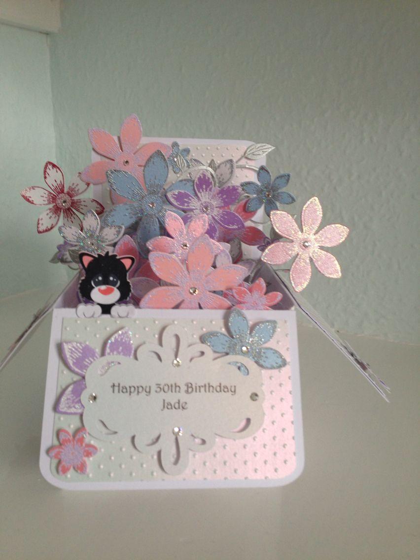 30th birthday card 30th birthday cards pop up cards