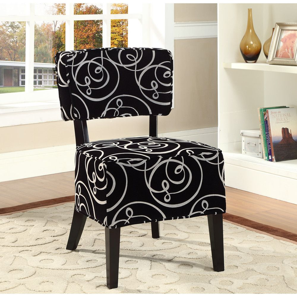 Best Rosedale Accent Chair Black White For My Makeup Vanity 400 x 300
