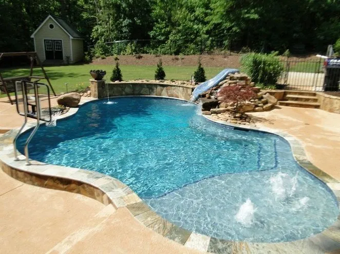 57 Amazing Natural Small Pools Design Ideas For Backyard 22 Bloghenni Online Luxury Pools Backyard Pools Backyard Inground Small Pool Design