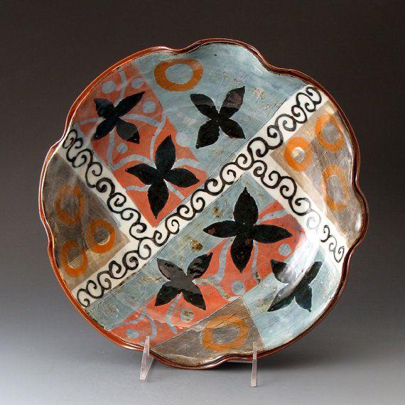 Handmade Ceramic Bowl, Scalloped Serving Bowl, Large Bowl