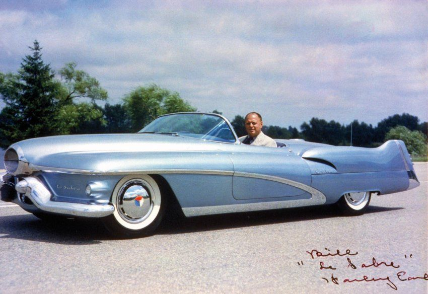 Buick Le Sabre 1951 and the designer Harley Earl.     Way ahead of its time. www.batsbirdsyard.com Bat Houses.