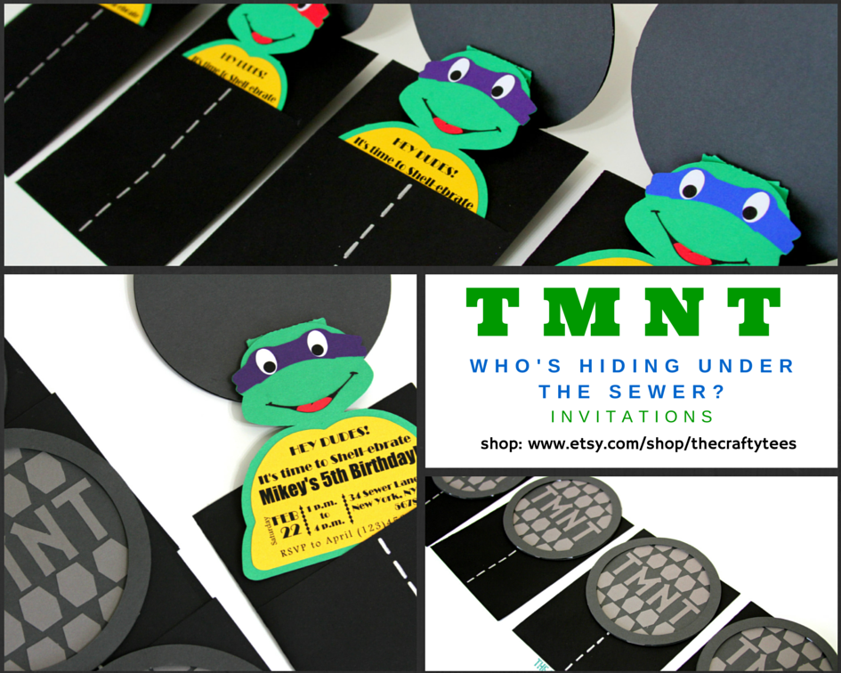 TMNT \' Who\'s Hiding Under The Sewer\' Invitations. Teenage Mutant ...