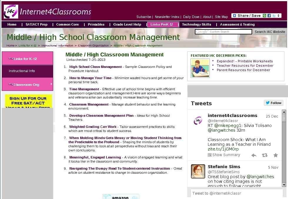 High School Classroom Management Resources For Teachers At I4c