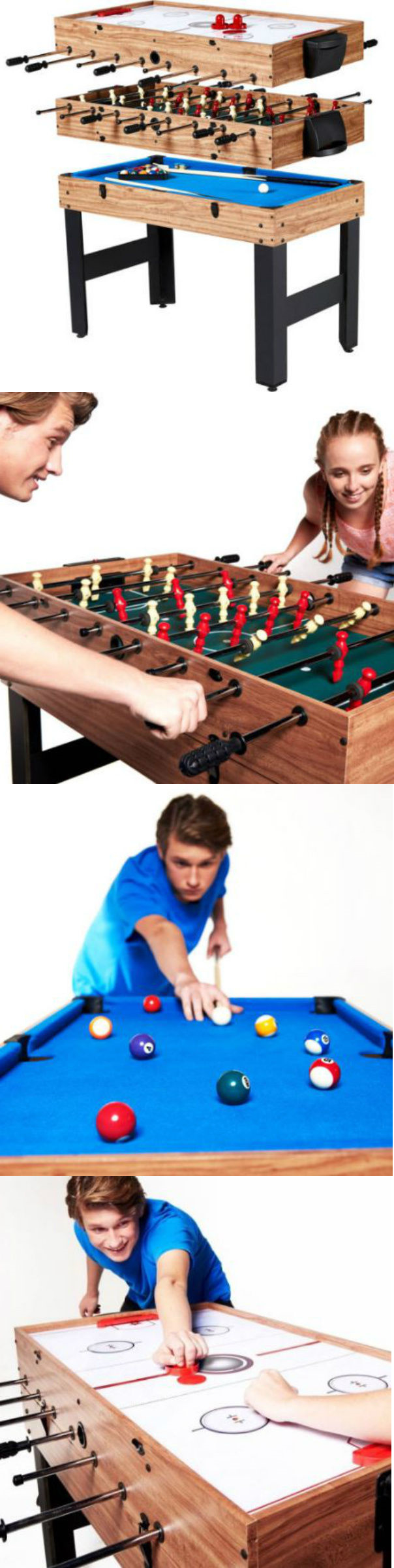 Other Indoor Games 36278: Multi Game Table For Kids Foosball Air Hockey  Pool 3