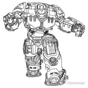 How To Draw Hulkbuster Iron Man Hulkbuster Hulk Coloring Pages Avengers Coloring Pages