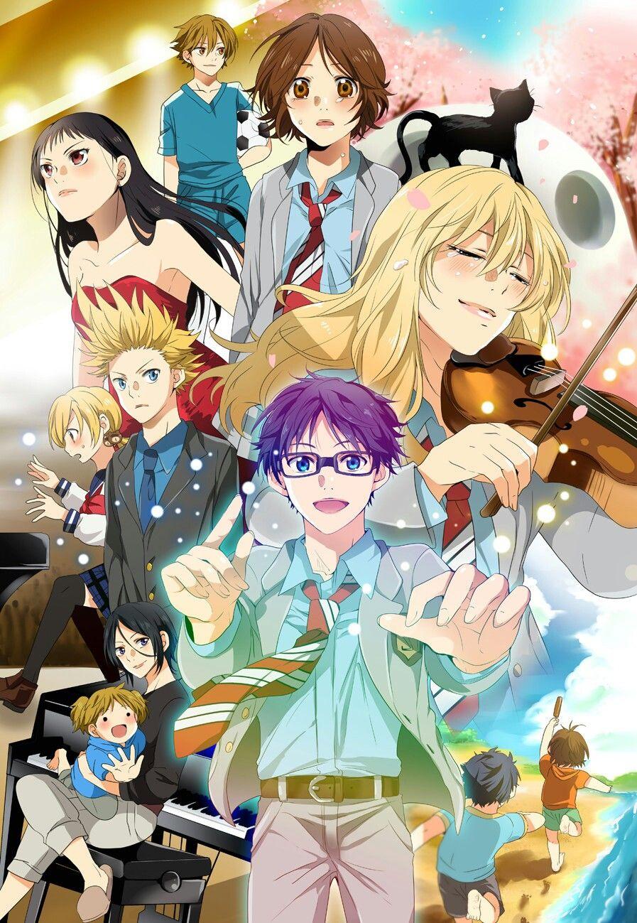 Shigatsu wa kimi no uso Your lie in april Manga, Fond