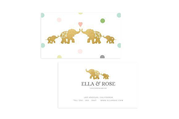 Elephant Business Card Template Templates This Fully Editable - Editable business card templates free