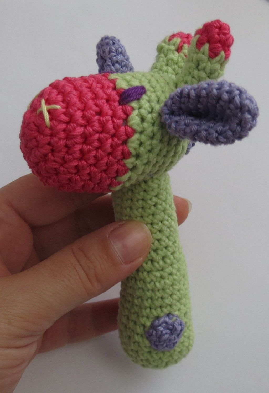 Diy Free Crochet Pattern Of A Giraffe Like Baby Rattle Crochet
