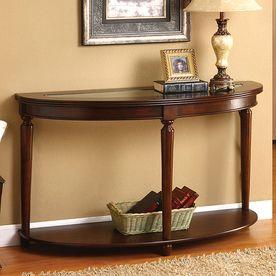 Furniture Of America Granvia Dark Cherry Birch Half Round Sofa Table Cm4131s Wood Console Table Furniture Wood Console