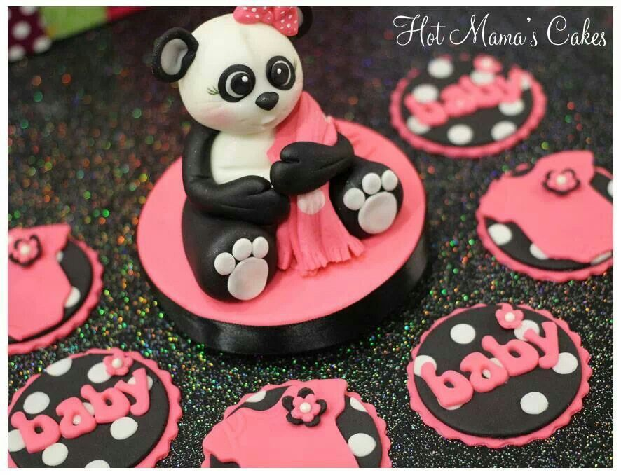 Baby girl cupcake toppers and cake topper