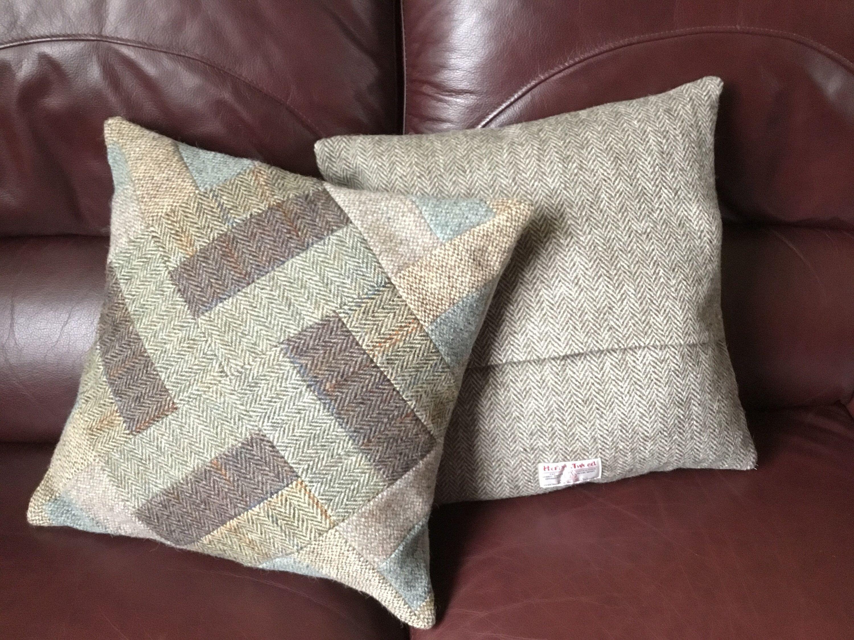 slate & tweed pillow case