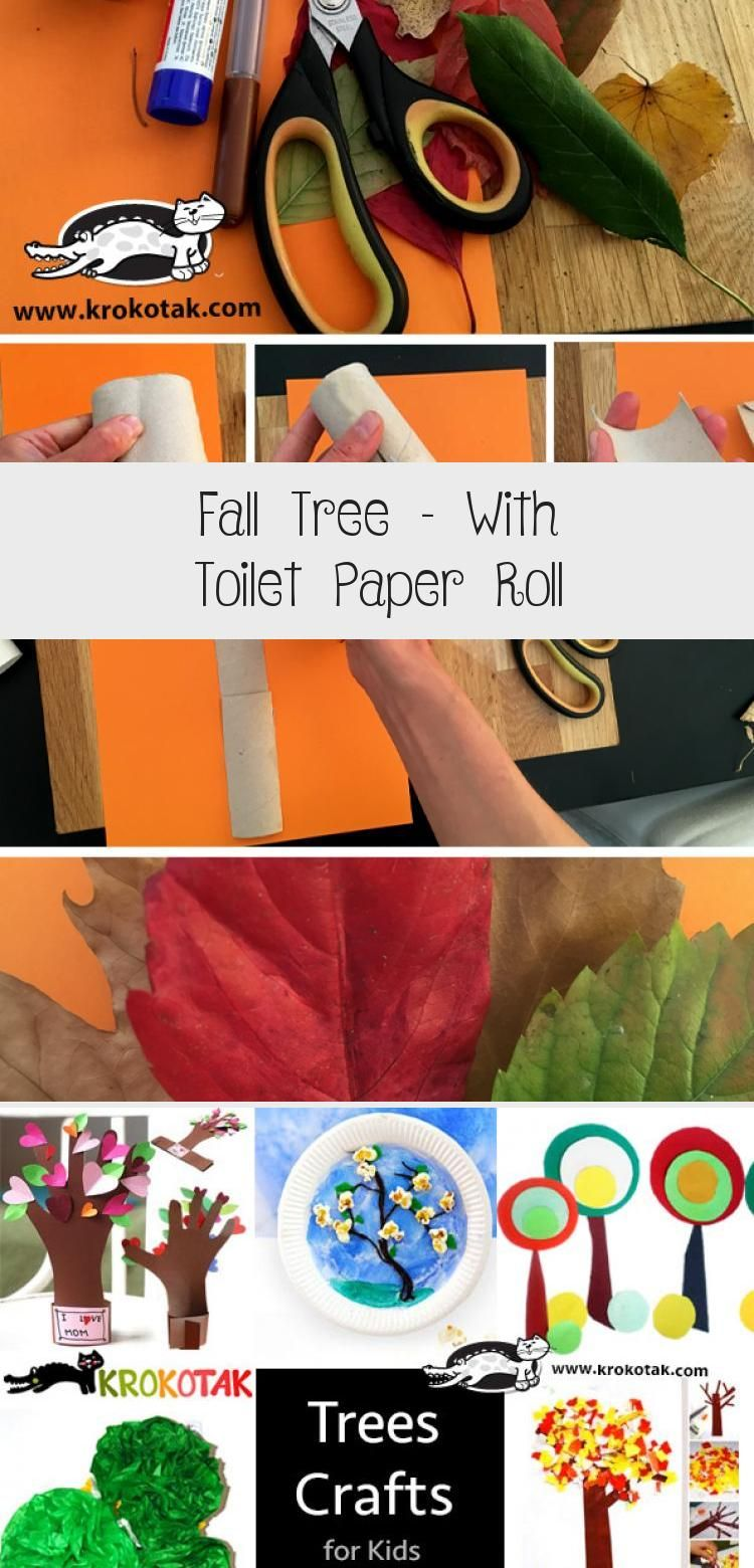 Fall Tree – With Toilet Paper Roll #toiletpaperrolldecor
