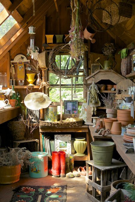 Friday Favorite Potting Sheds Shed Interior Potting Sheds Garden Shed Interiors