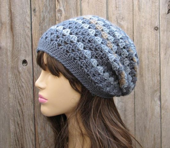 Crochet Hat - Slouchy Hat, Crochet Pattern PDF,Easy, Great for Beginners, Pattern No. 27.
