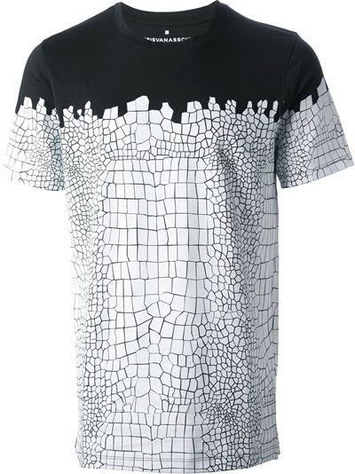 99aabe2a476d KRIS VAN ASSCHE - crocodile print T-shirt 6   Vans   Shirts, T shirt ...