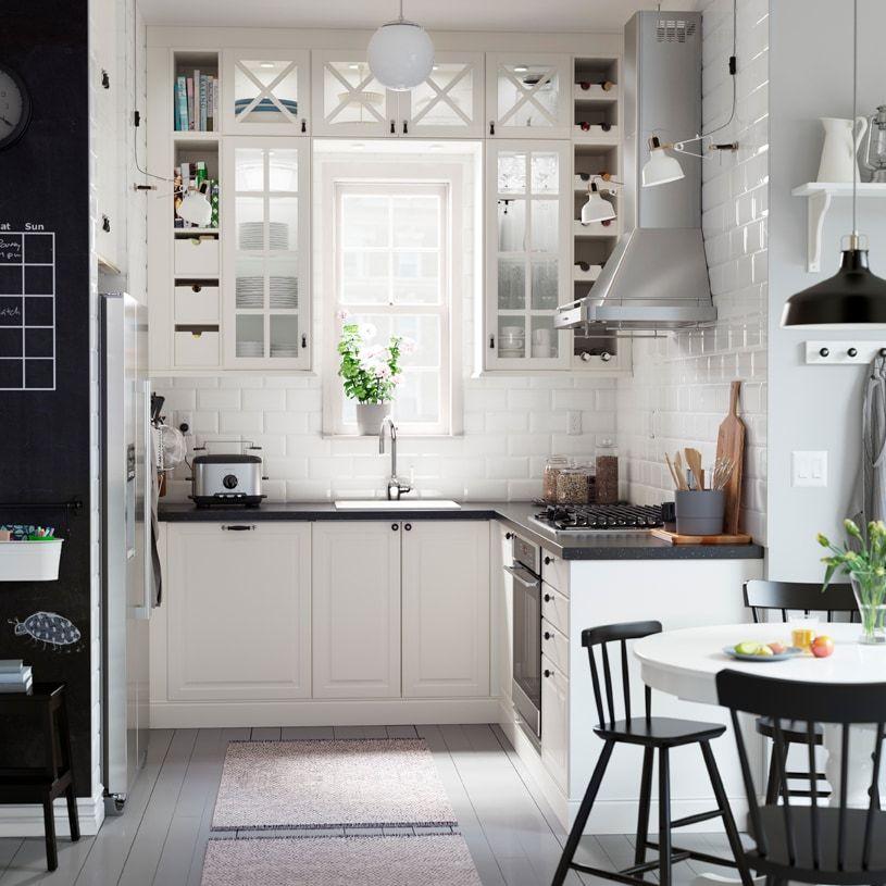 The Cozy Customized Kitchen Ikea Ikea Bodbyn Kitchen Kitchen Glass Doors Building Kitchen Cabinets