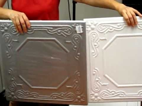 Polystyrene Decorative Ceiling Tiles Are Affordable And Easy To Install.  Just Glue Up Over Your Existing Ceiling Surface, Even Popcorn! Polystyrene  Ceiling ...