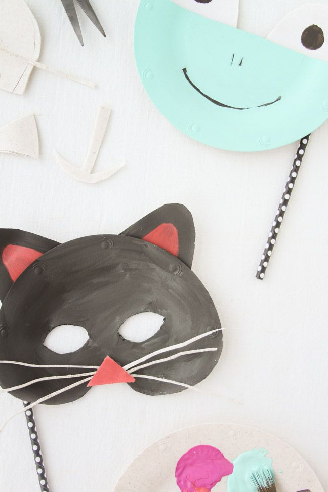 how to make a cat mask out of paper