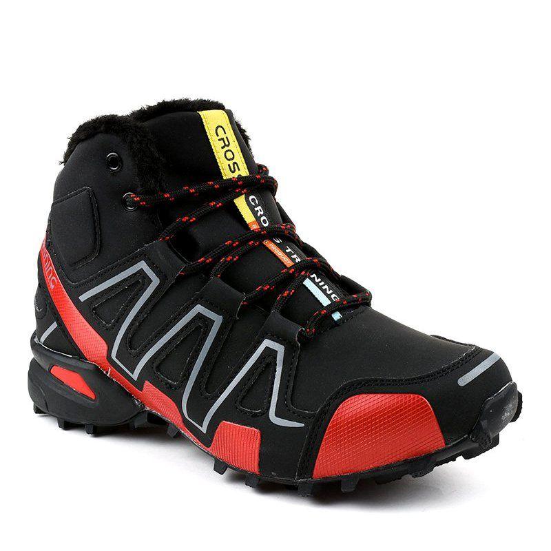 Czarne Obuwie Trekkingowe Ocieplane Bn8810 Trekking Shoes Shoes Shoes Mens