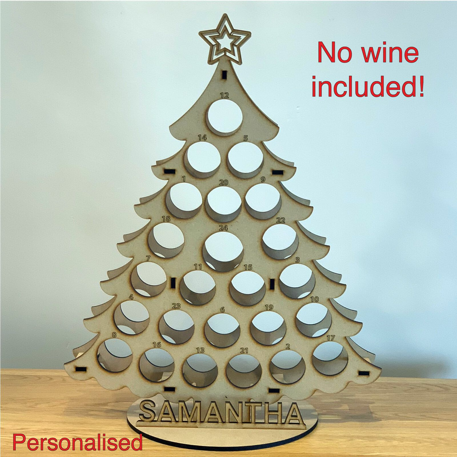 Miniature Wine Bottle Tree Adult Advent Calendar - Nicely Personalised - December 2019 #wineadventcalendardiy