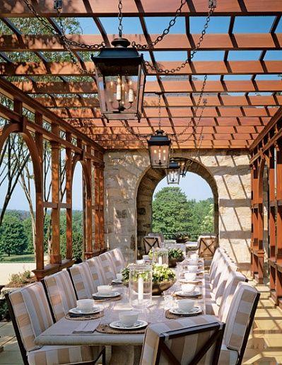 Pergola... garden dining!