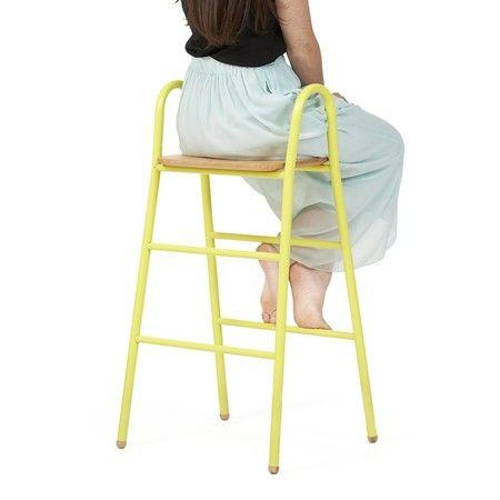 Leiter hocker lucien gelb zitronengelb 1 Hocker, Küchen