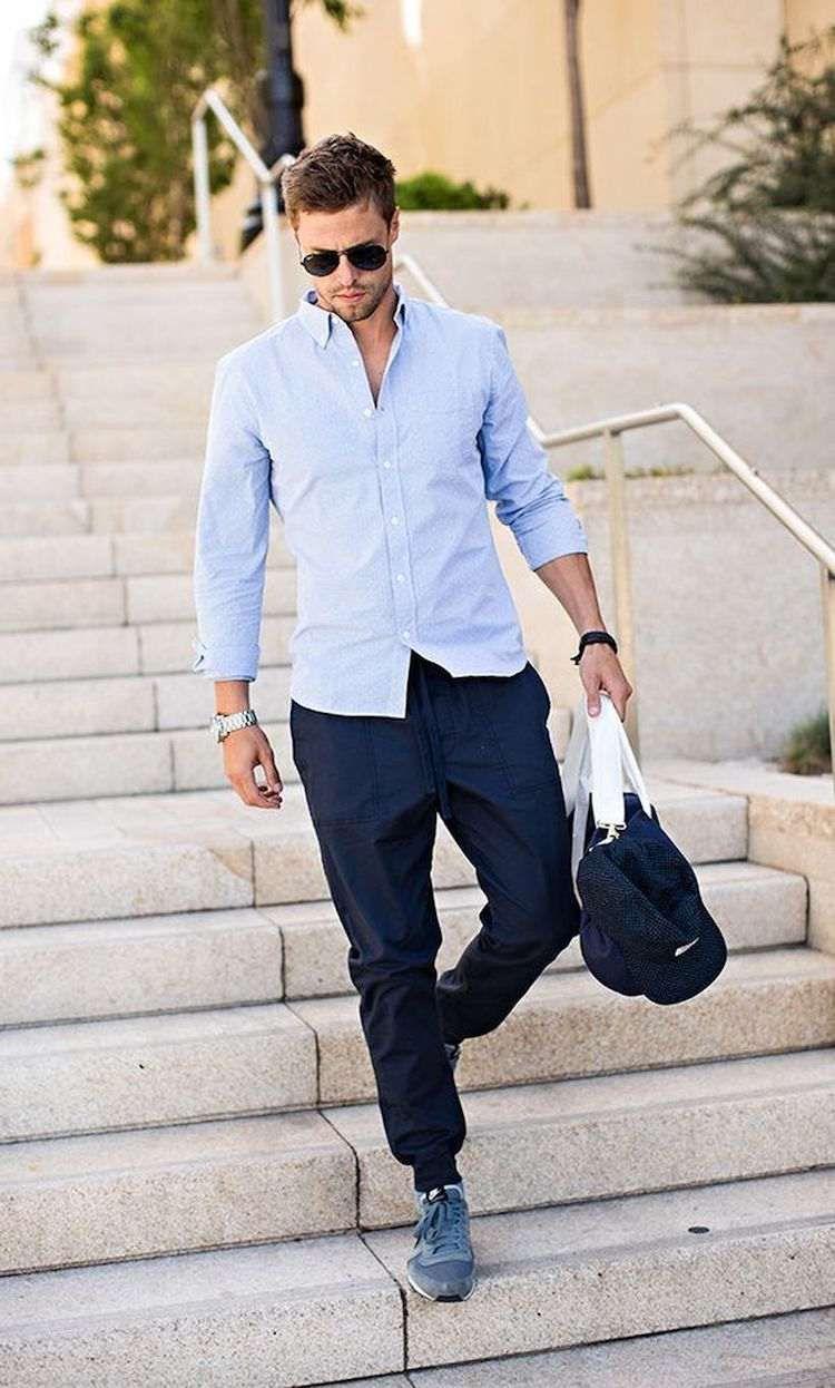 Comment tre chic en portant un pantalon jogging homme les astuces pantalon jogging homme - Que mettre avec un jean bleu ...