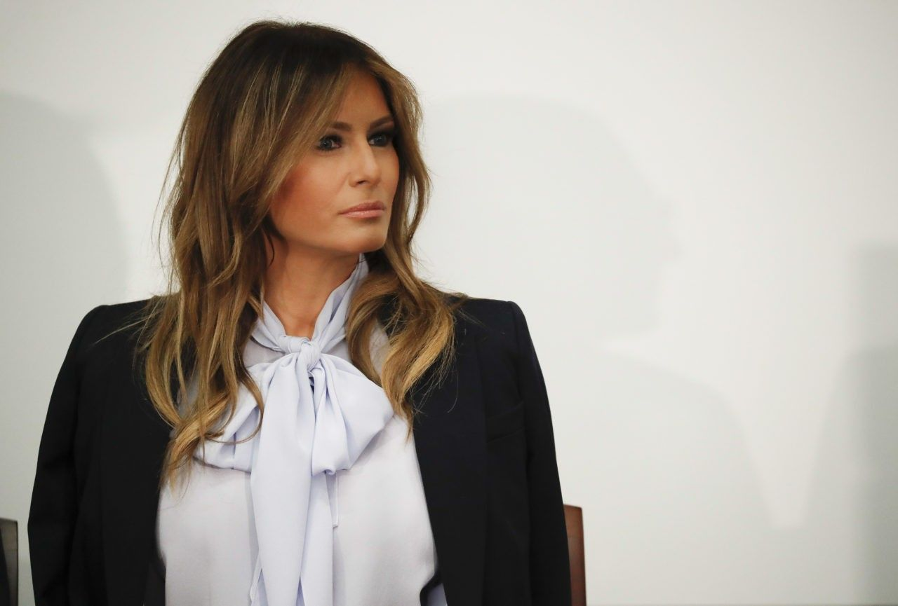 Fashion Notes: Melania Trump Is Business Chic in Michael Kors Suit, Pussy Bow Blouse