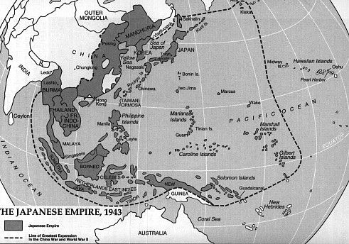 About Japan A Teachers Resource  Map of the Japanese Empire in