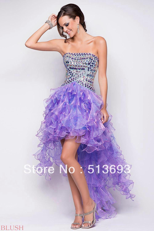 Love this purple high low prom dress | Dresses♡ | Pinterest