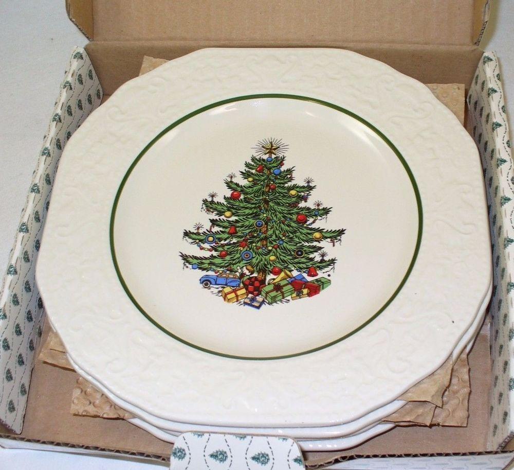 4 new CUTHBERTSON ORIGINAL CHRISTMAS TREE DESSERT PLATES ...