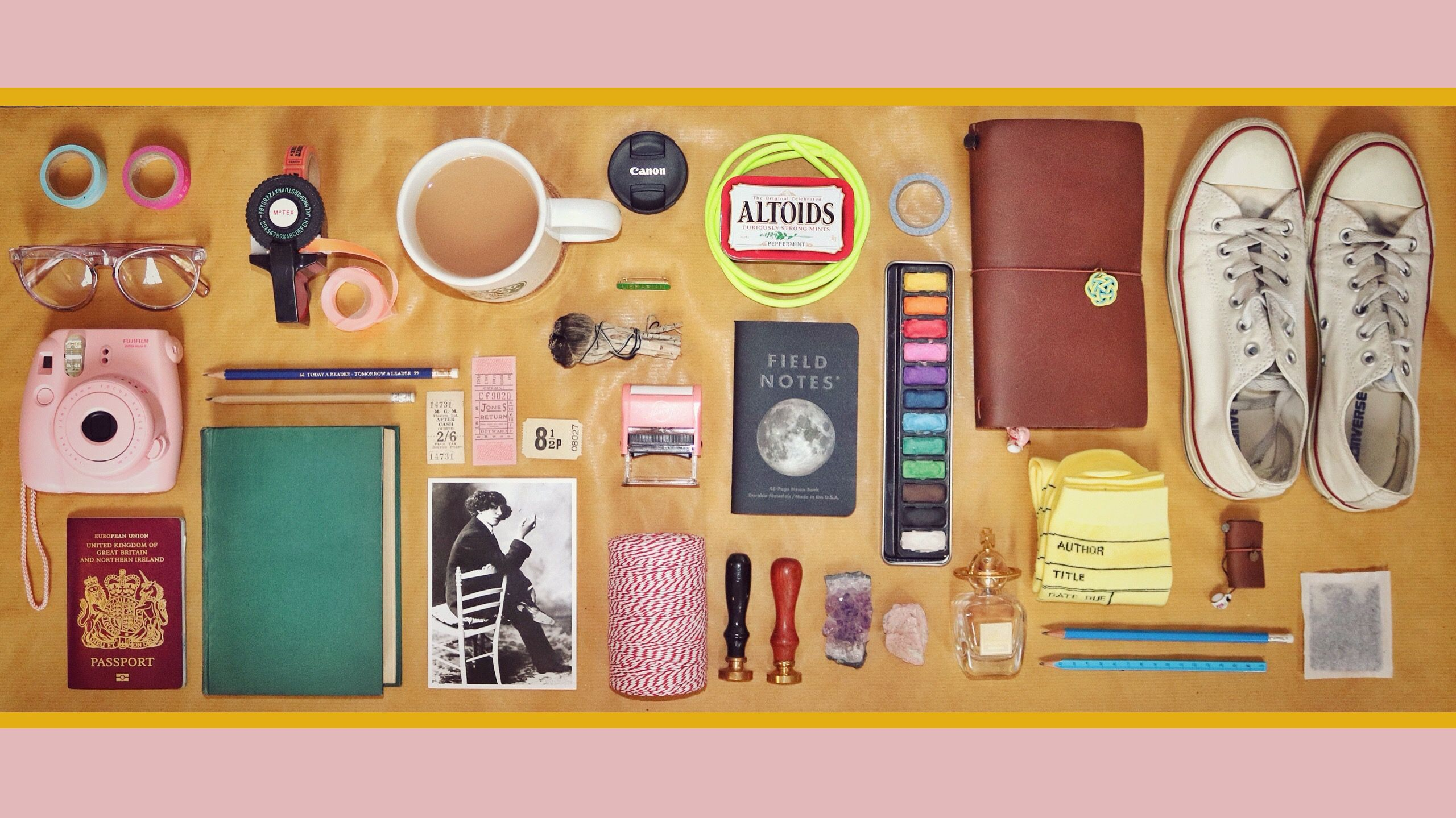 Instagram Kateholderness Wes Anderson Style Flatlay Of My Favourite Things
