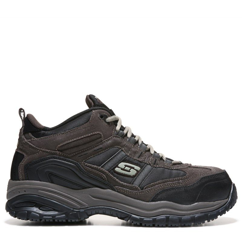 Skechers Work Men's Soft Stride Canopy Memory Foam Medium/Wide Work Boots (Brown/Black) - 9.5 M
