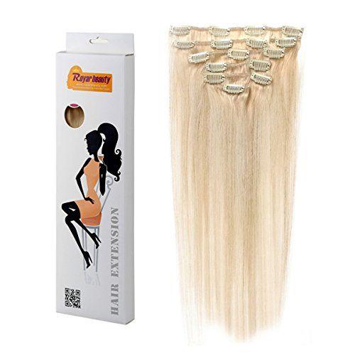 Royar Beauty Real Hair Extensions Clip In Full Head Wig Clips Remy Hair Extentions(platinum blonde,18inch,120g) $50.57 Buy at http://loftymart.com/royar-beauty-real-hair-extensions-clip-in-full-head-wig-clips-remy-hair-extentionsplatinum-blonde18inch120g-50-57/
