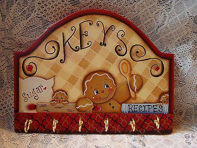HP Gingerbread Wooden Key Rack