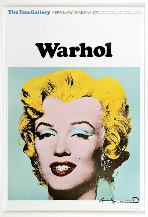 MARILYN (TATE GALLERY, LONDON, 1971) - SIGNED POSTER