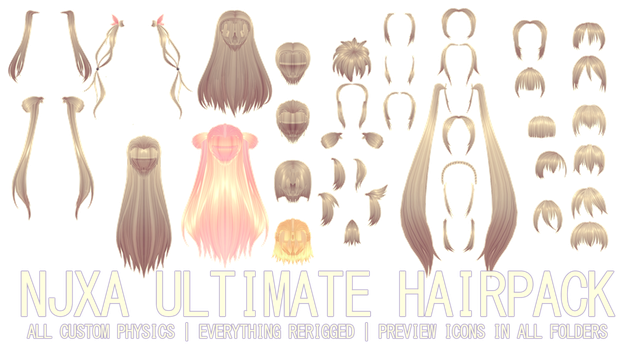 ULTIMATE NJXA HAIRPACK DL by kreifish | Download | How to