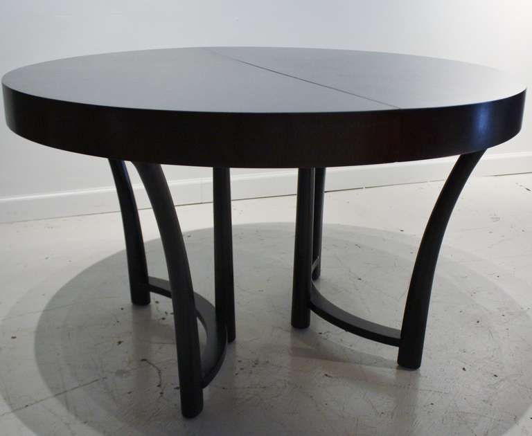TH Robsjohn Gibbings Expandable Round Dining Table
