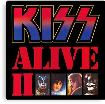 Alive Ii Canvas Print Kiss Album Covers Rock Album Covers