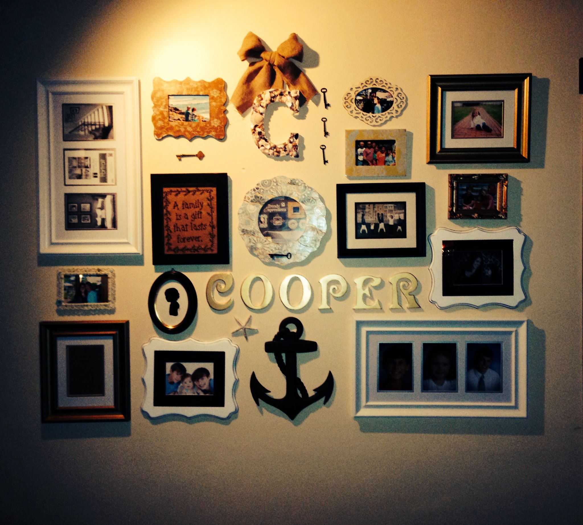 New family photo wall | Decorating | Pinterest | Photo wall, Walls ...