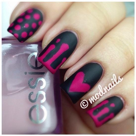 Nair Art: Black and Pink Nail Design Idea - Nair Art: Black And Pink Nail Design Idea Stuff To Try Pinterest