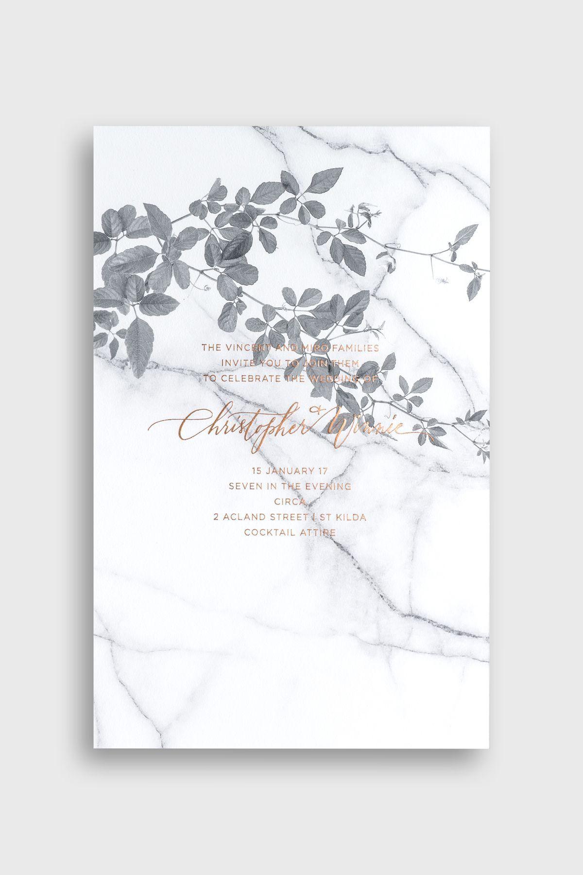14 modern botanical wedding invitations you will love | Wedding ...