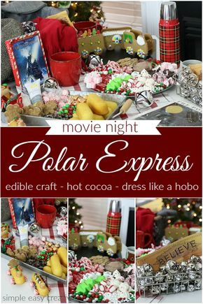 Polar Express Movie Night :: #themedmovienight #christmasmovies #polarexpress