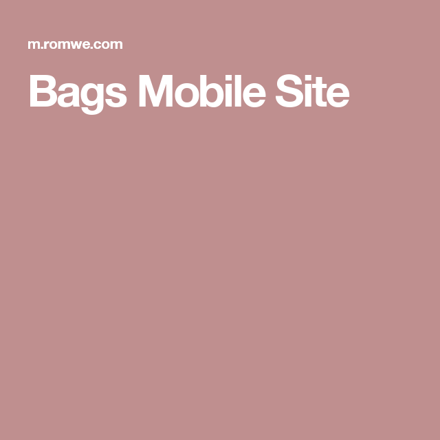 Bags Mobile Site