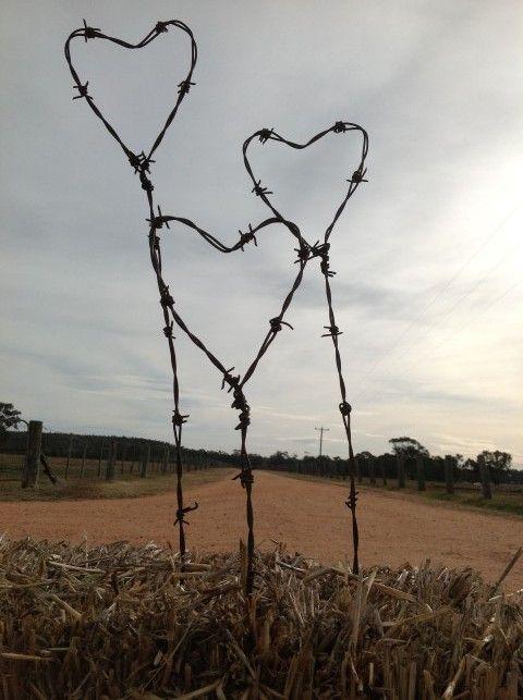 Barbed Wire Art | Three Farmers | Art | Pinterest | Gartenprojekte ...