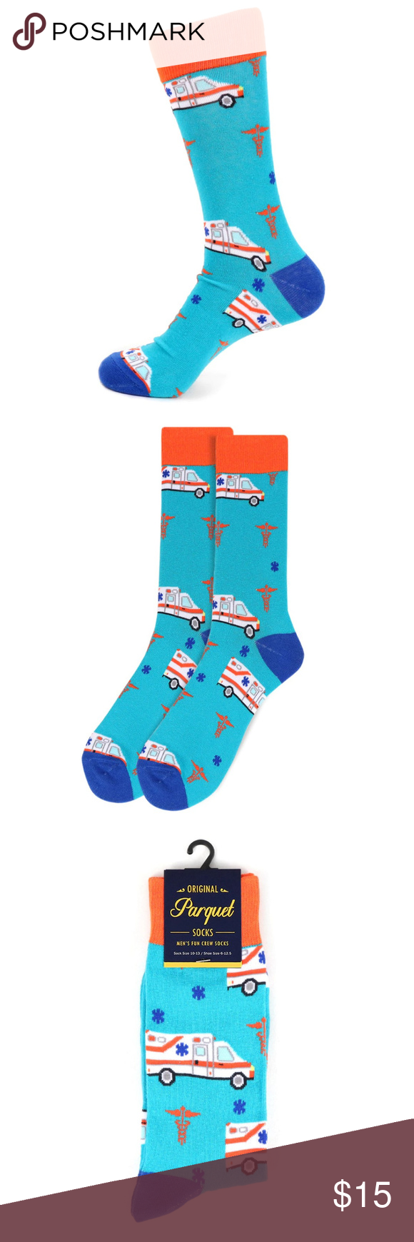 Men's Ambulance Novelty Socks PACKAGE OF 2 PAIRS Add some fun to your outfit wit…